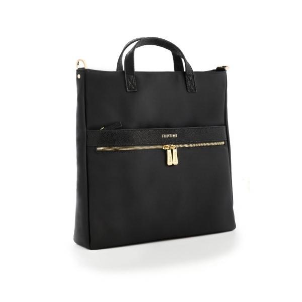 Tote bag verticale FullTime® - porta PC (fino a 14'') - Capri - Nera