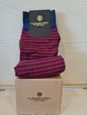 A.G. Spalding & Bros Calzino da uomo Pari Riga Blu-Rosso