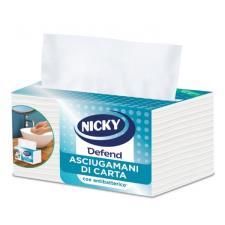 Asciugamani NICKY DEFEND con antibatterico - confezione 100 asciugamani - 2 veli