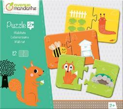 Avenue Mandarine- Puzzle, Multicolore