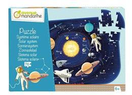 Avenue Mandarine PU017C Puzzle da 76 pezzi con poster guida incluso, sistema solare
