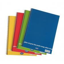 Blocchi notes spiralati Happy Color A4 da 60 fogli a quadretti 4 mm Buffetti