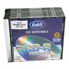 Buffetti - CD-R scrivibile - 700 MB - slim case - Silver - confezione 10+1