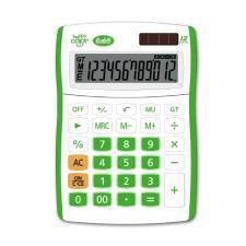Buffetti Calcolatrice Happy Color Big 12 digit - 130x185 mm - 4 funzioni + memoria Verde