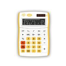 Buffetti Calcolatrice Happy Color Small 12 digit - 90x130 mm - 4 funzioni + memoria Gialla