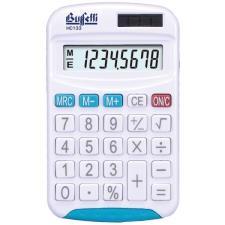 Buffetti Calcolatrice tascabile 8 cifre e display LCD - Blu