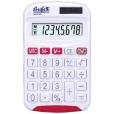 Buffetti Calcolatrice tascabile 8 cifre e display LCD - Rossa