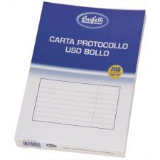 Buffetti Carta protocollo A4 uso bollo 200 fogli 60 g