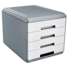Buffetti Cassettiera 4 cassetti Plastic Desk - colore bianco