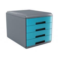 Buffetti Cassettiera 4 cassetti Plastic Desk - colore celeste