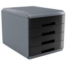 Buffetti Cassettiera 4 cassetti Plastic Desk - colore nero