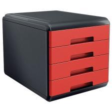 Buffetti Cassettiera 4 cassetti Plastic Desk - colore rosso