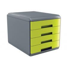 Buffetti Cassettiera 4 cassetti Plastic Desk - colore verde