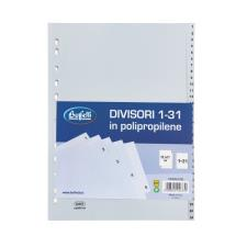 Buffetti Divisori - Polipropilene - 1-31 tasti numerici - A4 - grigio