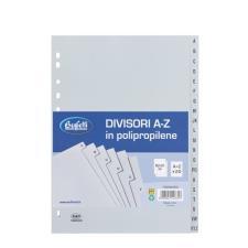 Buffetti Divisori - Polipropilene - A-Z - 20 tasti - A4 - grigio