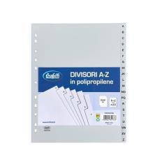 Buffetti Divisori - Polipropilene - A-Z - 20 tasti - A4 Maxi - grigio