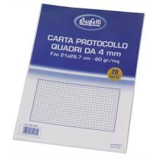 Buffetti Fogli protocollo A4 - quadretti 4 mm - 20 fogli - 60 g