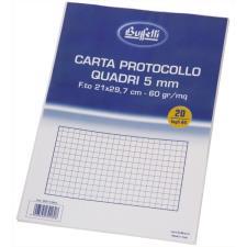 Buffetti Fogli protocollo A4 - quadretti 5 mm - 20 fogli - 60 g