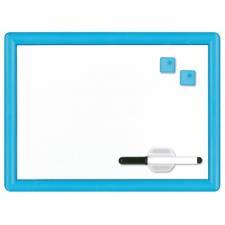 Buffetti Lavagna magnetica bianca con cornice in plastica rigida colorata 29x39 cm Azzurra
