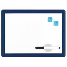 Buffetti Lavagna magnetica bianca con cornice in plastica rigida colorata 29x39 cm Blu