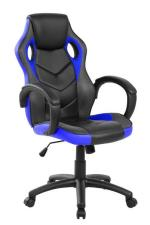 Buffetti Sedia Gaming  braccioli fissi  similpelle nero-blu