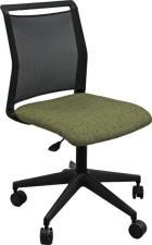 Buffetti Sedia operativa Tecla- braccioli opzionali  tessuto  sedile verde schienale rete nero