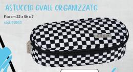 Comix Astuccio Ovale Organizzato Checker