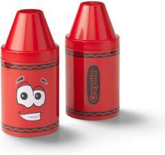 Crayola Portapenne e porta oggetti colorato per bambini Rosso