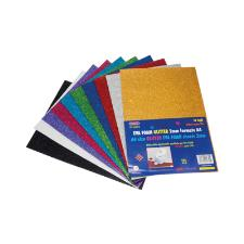 EVA FOAM GLITTER AUTOADESIVA MM.2 A4 FG.10 COLORI ASSORTITI