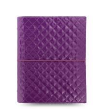 Filofax Domino Luxe A5 Organiser 2021 Purple