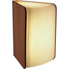 Lampada Libro USB Ricaricabile in legno ciliegio 12X8
