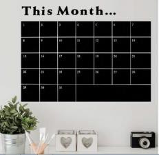 Lavagna adesive rimovibile scrivi e cancella. Monthly plan
