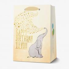 LEGAMI SACCHETTO REGALO HAPPY BIRTHDAY LARGE ELEPHANT