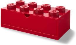 LEGO Cassettiera impilabile con 8 pomelli Rossa