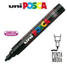 Marcatore UNI POSCA PC5M punta media 1,8 - 2,5 mm nero UNI MITSUBISHI