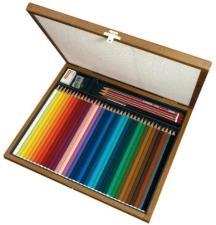 Matita colorata acquarellabile - STABILO- Cassetta in Legno - Cofanetto Regalo con 36 Colori, 3 Matite HB, 1 Gomma, 1 Temperino, 1 Pennello