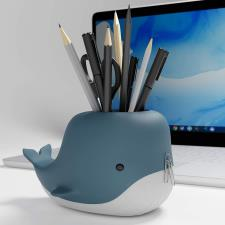 Moby Desk Whale portapenne + porta telefono