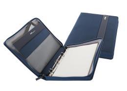 Nava Portablocco Easy A4 con chiusura Zip e manico Blu Notte