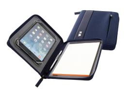 NAVA Portablocco formato A5 con Porta Tablet Night Blue