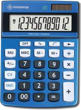 Osama Calcolatrice da Tavolo DX120K 12 Cifre Colore Metal Blu