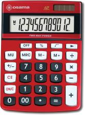 Osama Calcolatrice da Tavolo DX120K 12 Cifre Colore Metal Rosso