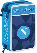 Panini Astuccio Triplo Napoli Celeste e Bianco