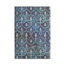 Paperblanks Agenda Mini 18 mesi orizzontale settimanale 2022 chiusura con fascia elastica Velluto Blu