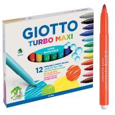 Pennarelli GiottoTurbo Maxi Astuccio 12 pezzi