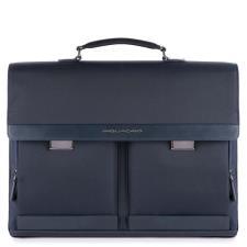 Piquadro Cartella Klout Porta Computer a due manici Blu