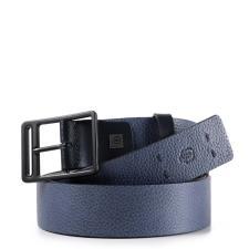 Piquadro Cintura 35 mm in pelle Blu
