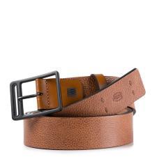 Piquadro Cintura 35 mm in pelle Cuoio