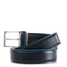Piquadro Cintura Blue Square con fibbia ad ardiglionerosso blu