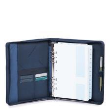 Piquadro Organizer grande con chiusura a zip Blu