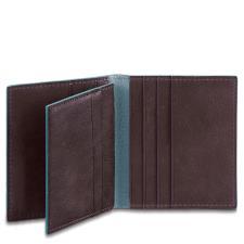 Piquadro Porta carte di credito 8 fessure Blue Square Mogano